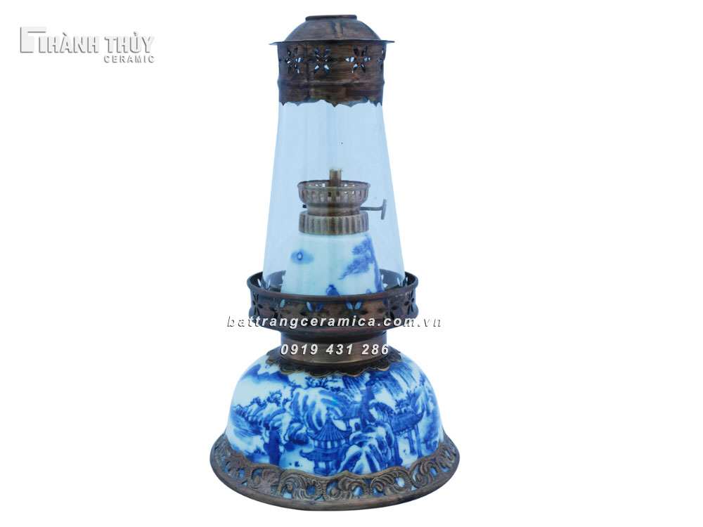 Đèn thờ vẽ Sơn Thủy