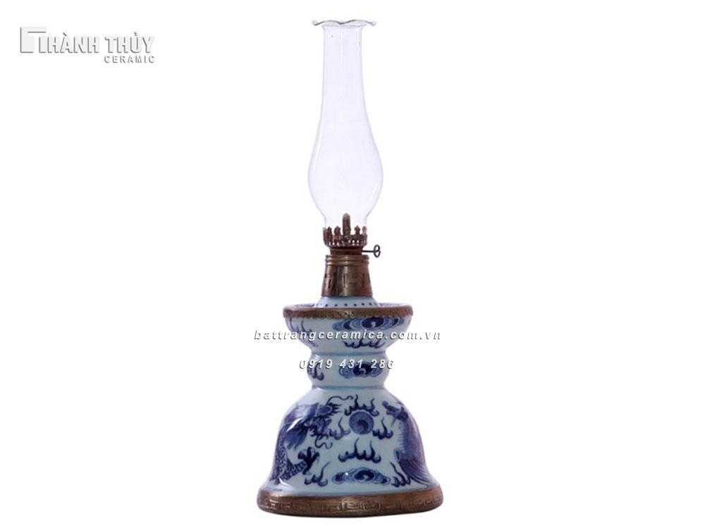 Đèn dầu thờ dáng bát đại - cao 38 cm (4)