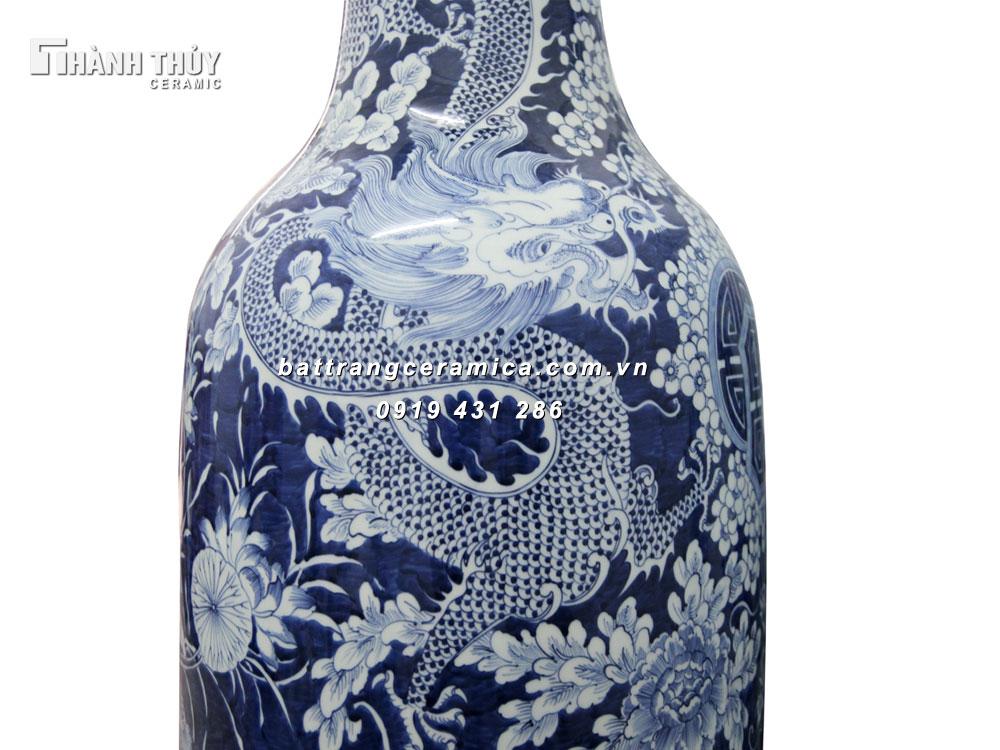 Lọ lộc bình vẽ Tứ Linh - cao 120cm (2)