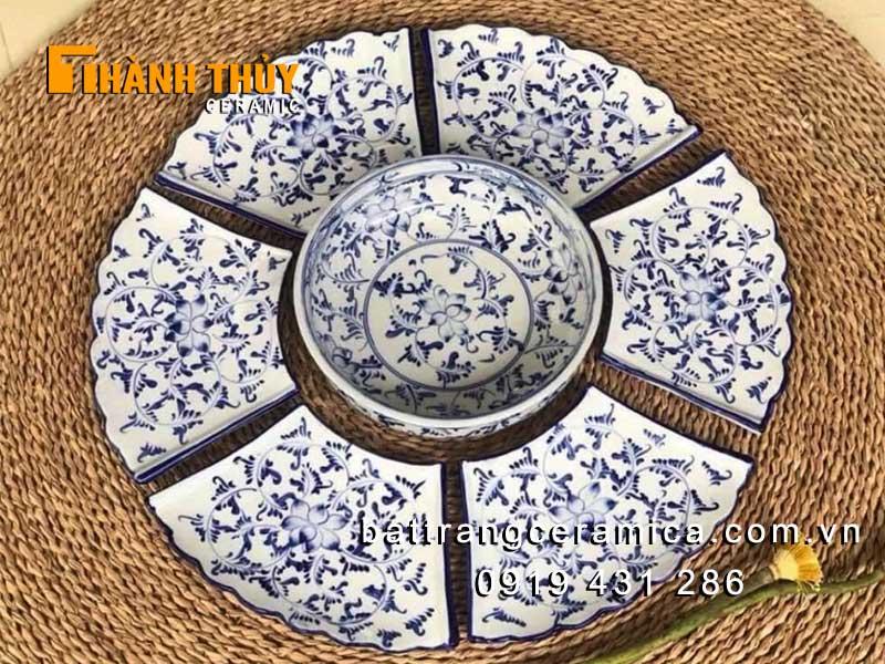 Bộ đồ ăn sếp hình bông hoa set 7 món