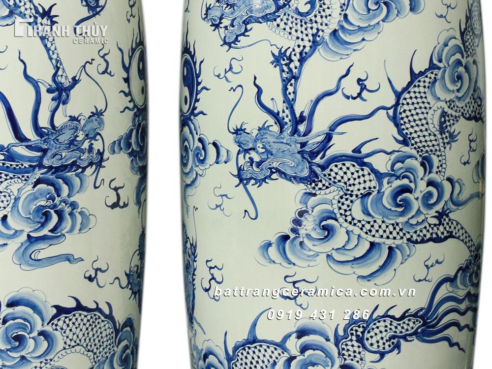 Lọ Lộc Bình vẽ Ngũ Long Chầu Nguyệt (2)
