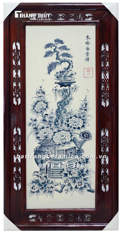Tranh Cổ Đồ Vẽ Bon Sai (4)