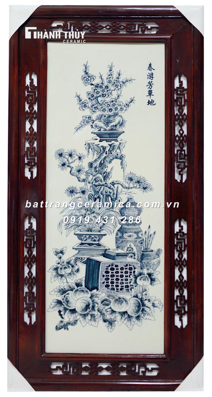 Tranh Cổ Đồ Vẽ Bon Sai (7)