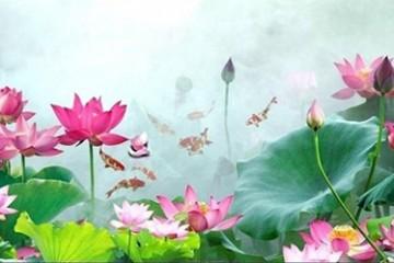 Ý nghĩa hoa Sen trên bát hương bằng gốm sứ của người Việt