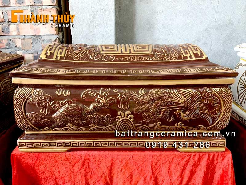 Quách tiểu sứ Tứ Linh hoàng thổ nhũ vàng