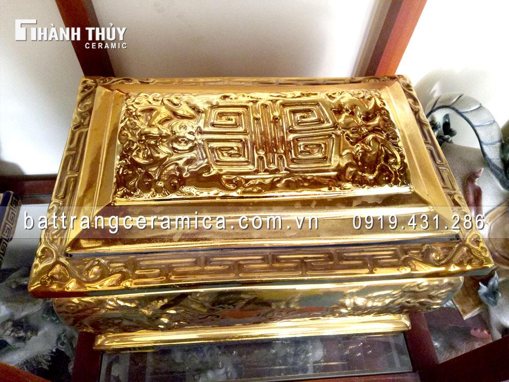 Quách tiểu sứ Tứ Linh mạ vàng kim