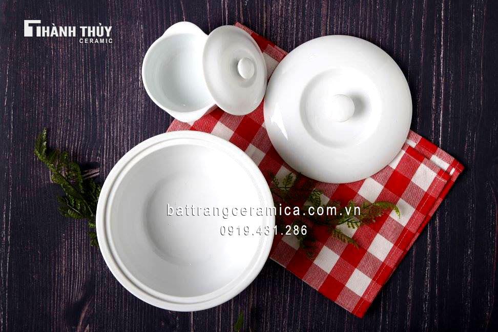 Bộ đồ ăn trắng (4)