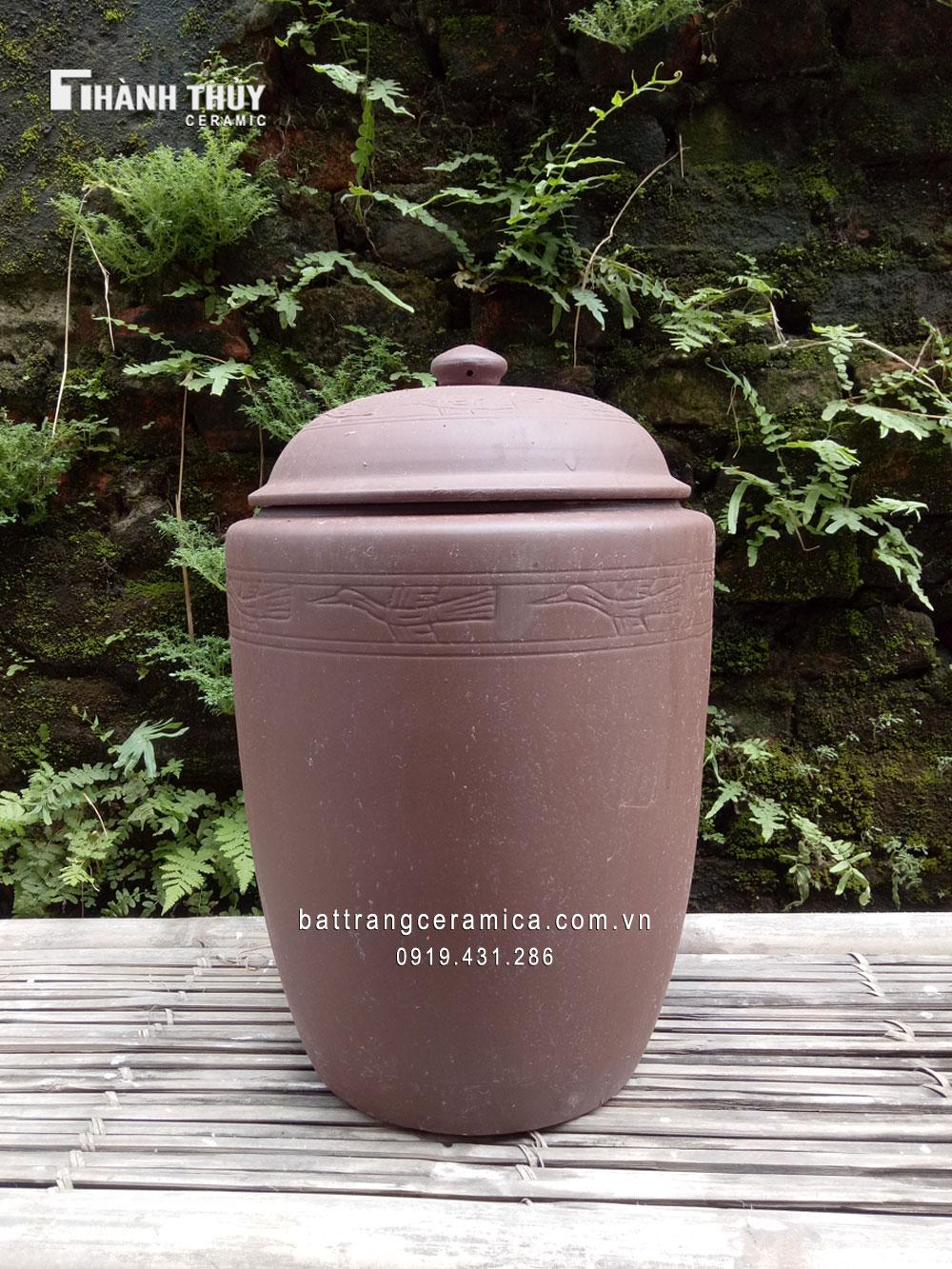 Hũ đựng gạo Bát Tràng 10 kg