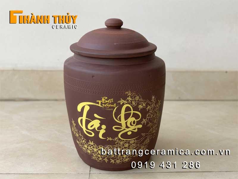 Hũ đựng gạo sứ Bát Tràng 10 kg