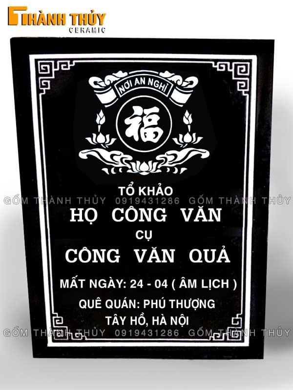 Bia mộ bền đẹp lựa chọn gốm sứ Bát Tràng